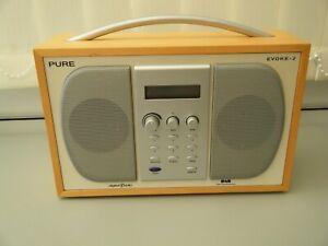 Pure Evoke-2 DAB AM/FM Radio, With original power lead. GREAT WORKING CONDITION