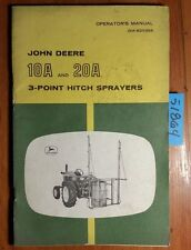 John Deere 10A 20A 3-Point Hitch Sprayer Owner's Operator's Manual OM-B25355 h6