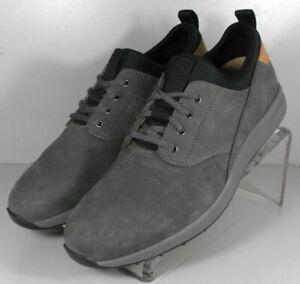 592277 SP50 Men's Shoes Size 9 M Gray Leather Lace Up Johnston & Murphy