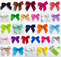 Large 5cm Grosgrain Bows - Self Adhesive - Pre Tied 16mm Ribbon 1, 6 or 12 Pack
