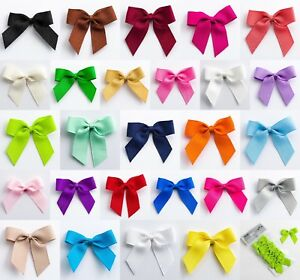 5cm Grosgrain Bows - Self Adhesive - Pre Tied 16mm Ribbon 1, 6 or 12 Pack