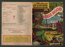 CGB Illustrated Classics rudl 5 * Robin Hood 1*sir Walter Scott/skansky * Z 2-3