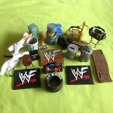 FIGURE ACCESSORIES wwe wrestling HUGE LOT by JAKKS PACIFIC wwf ecw raw
