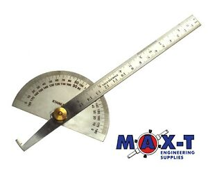 """Stainless Steel Angle Ruler 180° Protractor Measuring Tool 150mm/6"""""""
