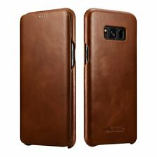 Samsung Galaxy S 8 Plus Brown Vintage Full Cover Protection Leather Case
