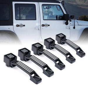 Xprite 5pcs FLAG Aluminum Exterior Door Handles Kit for 07-18 Jeep Wrangler JK