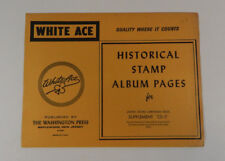 White Ace Historical Stamp Album Pages 1976 US Christmas Seals Supplement CS-5