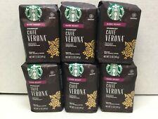 Starbucks Caffe Verona Ground Coffee, Dark Roast, 12oz Bags, 6/Case, 10/2021