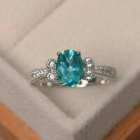 1.70 Ct Natural Diamond Topaz  Engagement Ring 14K White Gold Size 7.5 6.5 5.5 6
