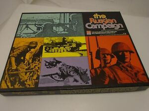 The Russian Campaign Battle WWII Game 1976 Avalon Hill 3rd Edition Punched