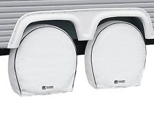 New White RV Deluxe Wheel Cover 4 Pack Classic Accessories 80-225-192302-0