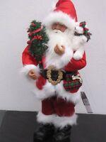 Santa Klaus 60cm Weihnachtsmann & Bärchen Nikolaus Weihnachten Weihnachtsdeko