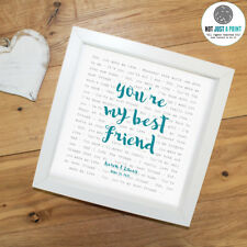 Queen 'Your Best Friend' -  Framed Lyrics Poster - Personalised Gift