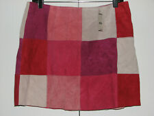 Express Women's Pink Suede Checkerboard Mini-Skirt Size 13/14 NEW