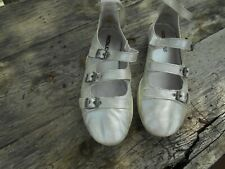 COLLECTOR  CHAUSSURES PATAUGAS CUIR argent  T 38 FR 20€ ACH IMM FP COM MOND RELA