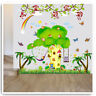 Monkey Wall Stickers Animal Jungle Owl Tree Zoo Nursery Baby Kids Room Decal Art
