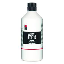 MARABU Acryl Farbe Color weiß wasserfest deckend lichtecht 500ml neu