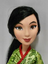 "Hasbro Disney 11"" Character Doll ""Moulan"" w/Shimmer Dress & Red Slipper Shoes"