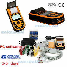 FDA Digital Electrocardiograph ECG/EKG machine 12lead Single channel Software US
