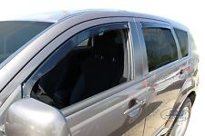 DMI23352 MITSUBISHI OUTLANDER 5 door 2007-2012 wind deflectors 4pc TINTED HEKO