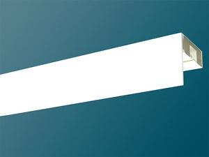 Gardinenschiene Kunststoff mit Blende 1-lfg. incl Holzkern für mehr Stabilität !