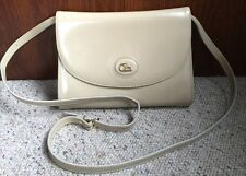 VTG  Cristian Horse Rider Logo Beige Leather Shoulder Crossbody Purse Italy