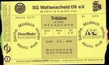 Ticket BL 92/93 SG Wattenscheid 09 - Borussia Dortmund