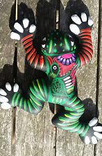 Clay Hand Painted Frog Rana Wall Art Mexican Guerrero 6x5x1 Pottery #8Small