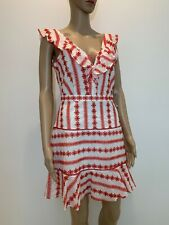 NWT 175 $ Sugar Lips Anthropologie Women Cotton Embroidered Dress Size S S1
