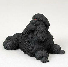 Poodle Figurine Hand Painted Collectible Statue Black