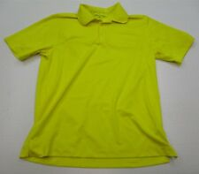 Nike Golf #T3981 Men's Size M Athletic Dri-Fit Short Sleeve Yellow Polo Shirt