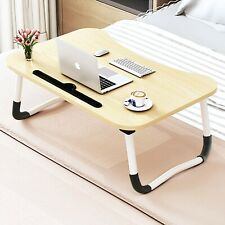 Large Foldable Bed Tray Lap Desk,Portable Lap Desk with Tablet & Phone Slots