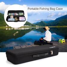 Fishing Bag Case Shockproof Fishing Rod w/ Reel Carry Bag Pole Storage Case N0E8