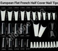 100/500/600Pcs Flat French/Coffin/Stiletto/Almond/Oval/French False Nail/Tips