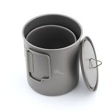 TOAKS CMB-750-450 Titanium Cookware Set 750ml Camping Pot and 450ml Cup