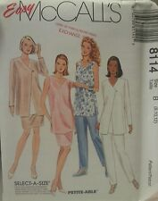 8114 McCall's Misses Jacket,  Tunic, Pants, Skirt Sewing Patterns Size 8, 10, 12