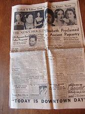 Vintage Newspaper Elizabeth II Tradition Britians Throne Feb 8 1952 Comics Movie
