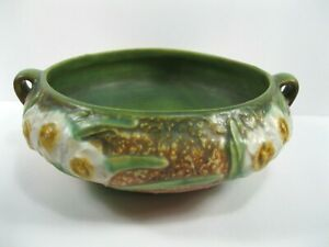 Roseville Pottery Jonquil Low Bowl 1931 floral