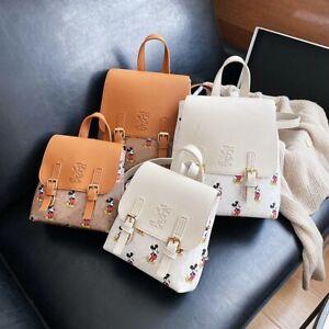 Disney Mickey mouse backpack handbag Printed Stuffed Leather Backpack Purse