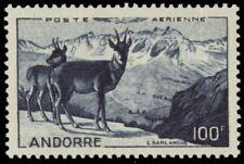 """FRENCH ANDORRA C1 - European Chamois """"Airmail"""" (pf87526)"""