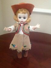 "Vintage 1967-1969  Madame Alexander-Kin "" Cow Girl "" Bent Knee Walker"