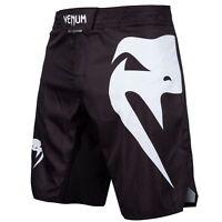 Venum Light 3.0 Fight Shorts Black White MMA Jiu Jitsu No-Gi Grappling Training