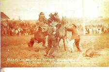 CT51. Postcard.Calgary Stampede. Alta 1912. Rodeo.Hazel Walker on Buttons