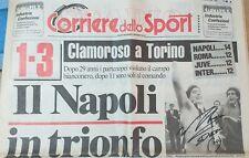 Autografo DIEGO ARMANDO MARADONA su Corriere Dello Sport 1986 1987