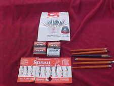 Vintage 57 Pen Tips Speed Ball New & 6 Holders Dixon & No.207