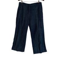 Talbots Chambray Denim Crop Capri Pants Size 10