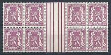 Belgium 1938 Sc# 274 Coat of arms Lion horizont gutter block 8 MNH