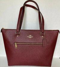 New Coach F79608 Gallery Tote Crossgrain Leather handbag Wine
