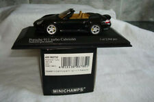 PORSCHE 996 TURBO CABRIOLET 2003 GREEN METALLIC MINICHAMPS 400062732 1:43 mint