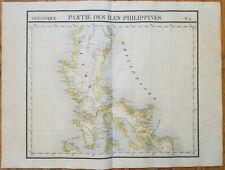 VANDERMAELEN: Huge Original Map Philippines on 6 Sheets - 1827